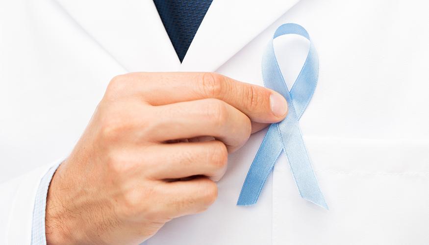 A acupuntura em tons de azul.